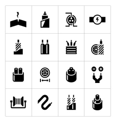 Set icons of cables and wires vector