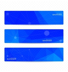 Collection horizontal banners on blue background vector