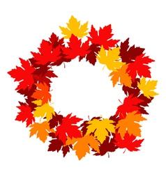 Autumnal falling leaves frame for seasonal design vector