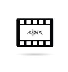 Film tape horror vector