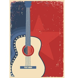 Concert guitar for poster music festival vector
