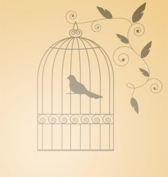 Silhouette cage vector