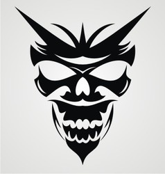 Black devil mask vector