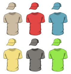T-shirts and caps vector