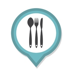 Restaurant menu icon with long shadow vector