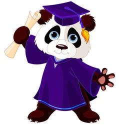 Panda graduates vector