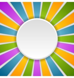 Circle and rays rainbow colors vector