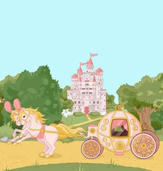 Fairytale carriage vector