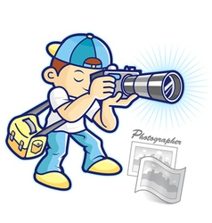 Cartoon photographer vector