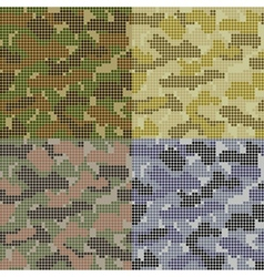 Dotted camouflage patterns vector
