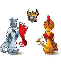 Chess set kings vector