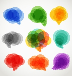 Abstract color speech clouds collection vector