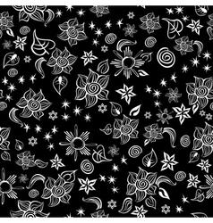 Contrast line art pattern vector