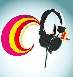 Headphone design vector