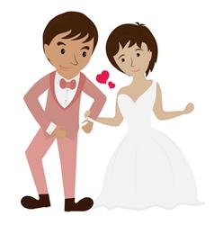 Couple wedding 1 vector