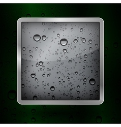 Icon water in an aluminum frame vector