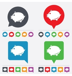 Piggy sign icon pork symbol vector