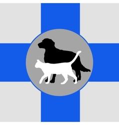 Zoo vet emblem vector
