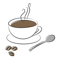 Coffee cup spoon vector