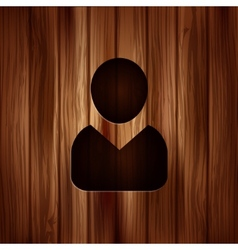 Person icon wooden background vector