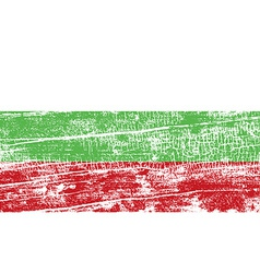 Flag of bulgaria with old texture vector