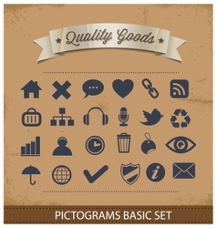 Premium and simple pictograms set vector
