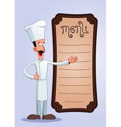 Cheff offering menu vector