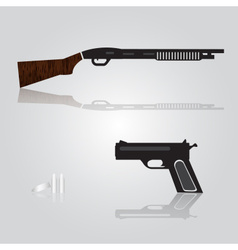 Pistol and shotgun weapons eps10 vector