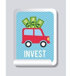 Invest design vector