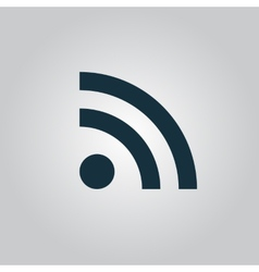 Wi-fi sign icon  flat design vector