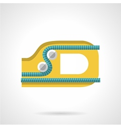 Colored ascender flat icon vector