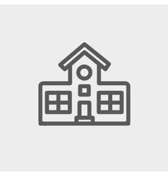 School building thin line icon vector