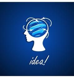 Business icon idea vector