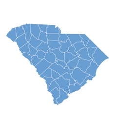 State map of south carolina by counties vector