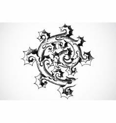 Thorn ornament vector