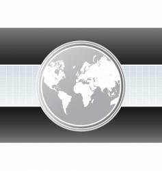 World map futuristic background vector