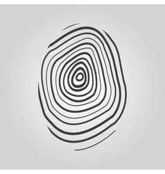 The fingerprint icon fingerprint symbol  flat vector
