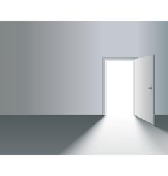 Open door in wall vector
