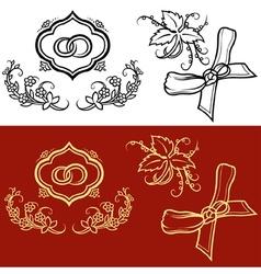 Wedding ornament vector
