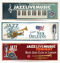 Jazz background set vector