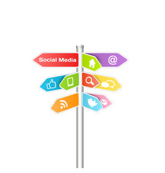 Social media and networking concept vector