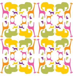 Colorful animals pattern vector