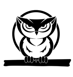 Black and white owl vector