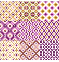 Seamless retro geometric wallpaper vector