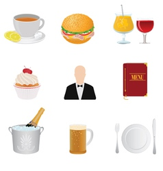 Restaurant and food vector
