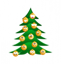 Christmas fur tree vector