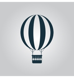 Balloon journey web icon sign and button vector