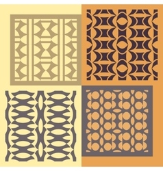 Set of four seamless patterns vintage geometric vector