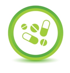 Green medicine icon vector