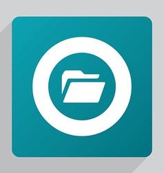 Flat folder icon vector